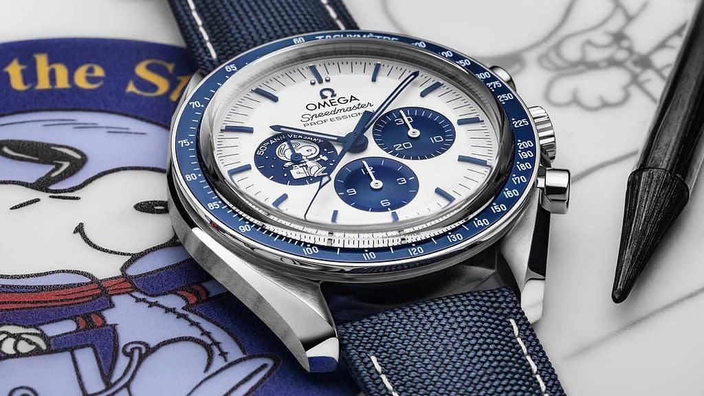 Omega Silver Snoopy 50th Anniversary