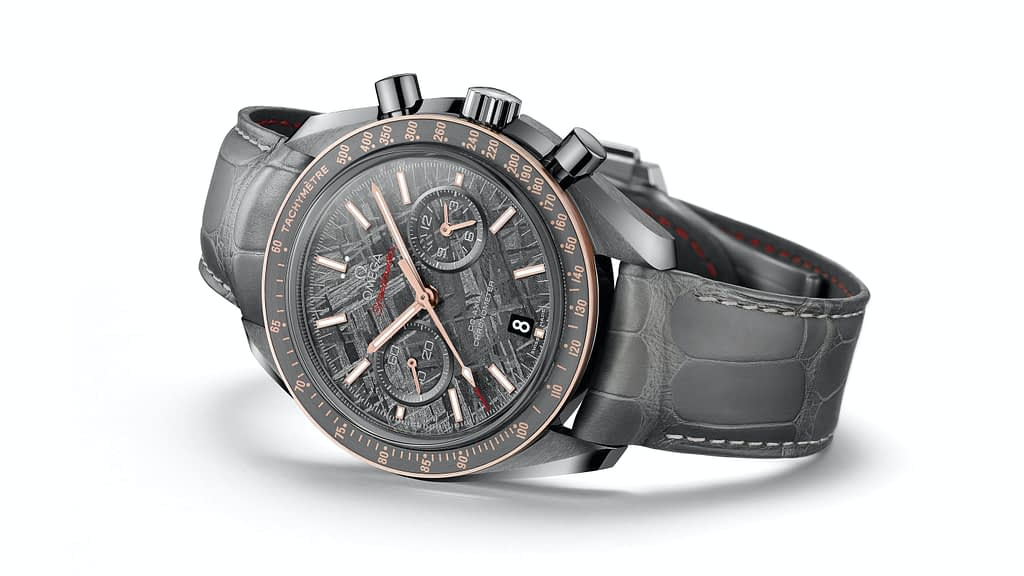 Omega Speedmaster Moonwatch Grey side of the Moon Meteorite